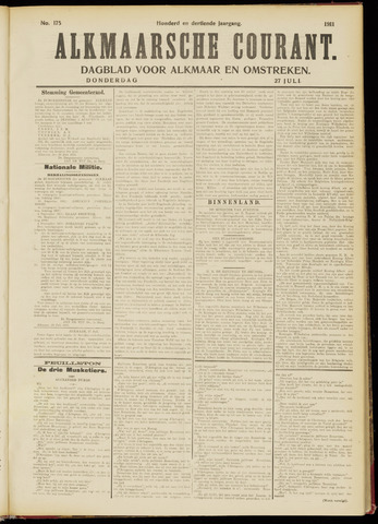 Alkmaarsche Courant 1911-07-27