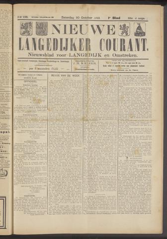 Nieuwe Langedijker Courant 1923-10-20