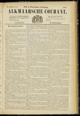 Alkmaarsche Courant 1893-09-29