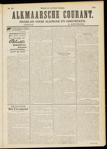 Alkmaarsche Courant 1912-09-27