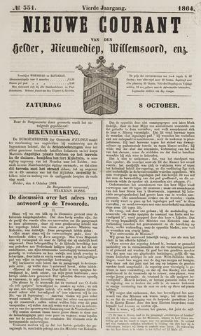 Nieuwe Courant van Den Helder 1864-10-08
