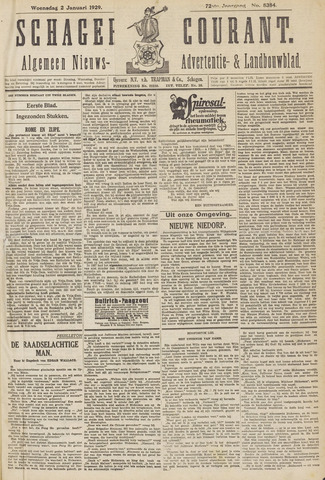 Schager Courant 1929