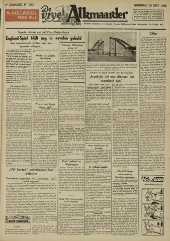De Vrije Alkmaarder 1948-09-29
