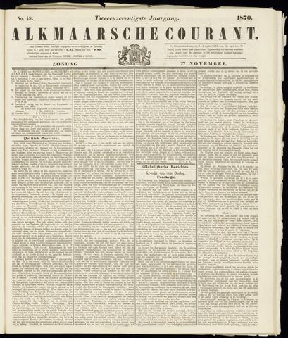 Alkmaarsche Courant 1870-11-27