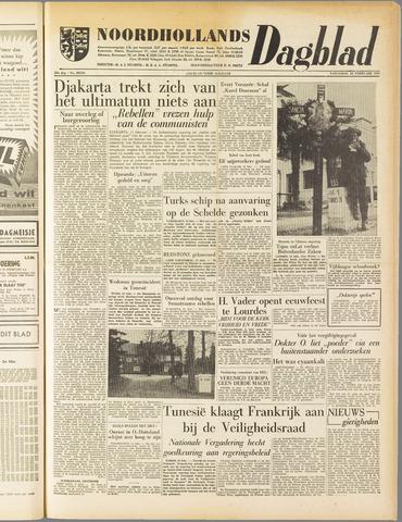 Noordhollands Dagblad : dagblad voor Alkmaar en omgeving 1958-02-12