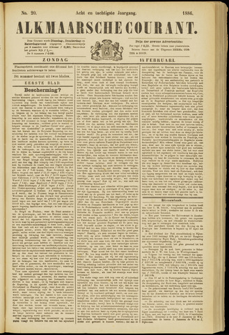 Alkmaarsche Courant 1886-02-14
