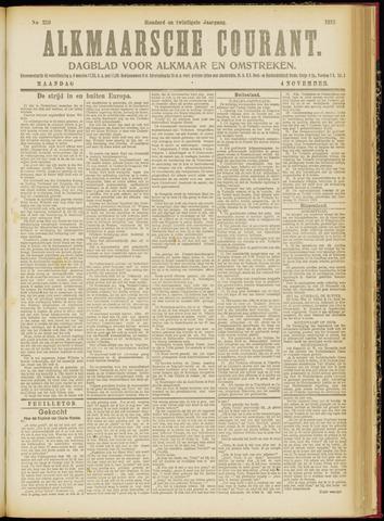 Alkmaarsche Courant 1918-11-04