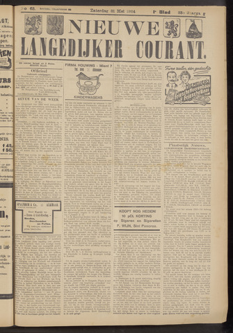 Nieuwe Langedijker Courant 1924-05-31