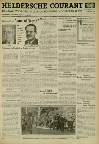 Heldersche Courant 1939-02-09