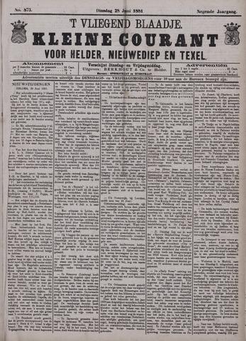 Vliegend blaadje : nieuws- en advertentiebode voor Den Helder 1881-06-28