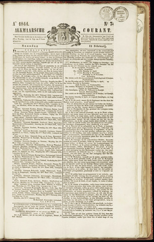 Alkmaarsche Courant 1844-02-12