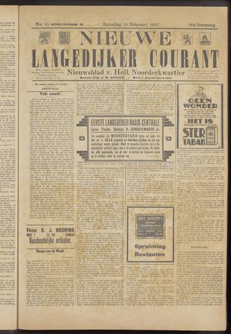 Nieuwe Langedijker Courant 1927-02-19