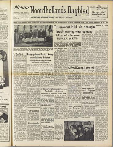 Nieuw Noordhollandsch Dagblad : voor Alkmaar en omgeving 1951-02-01