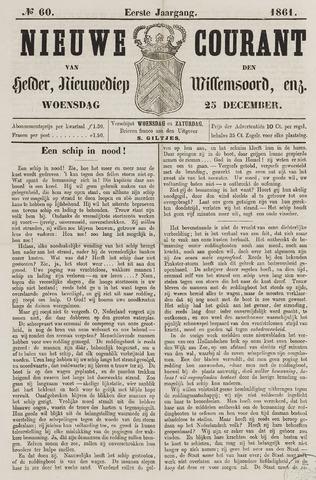 Nieuwe Courant van Den Helder 1861-12-25