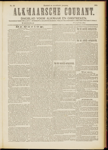 Alkmaarsche Courant 1915-01-27