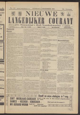 Nieuwe Langedijker Courant 1930-12-02