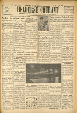 Heldersche Courant 1949-11-09