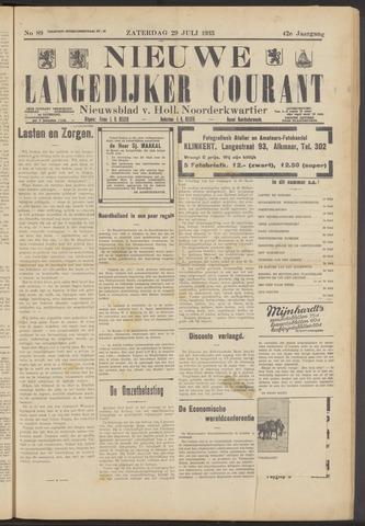 Nieuwe Langedijker Courant 1933-07-29