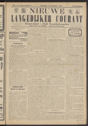 Nieuwe Langedijker Courant 1926-12-21