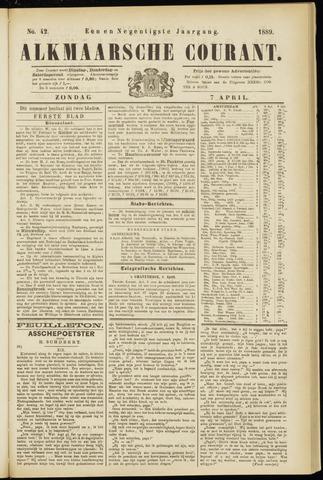 Alkmaarsche Courant 1889-04-07