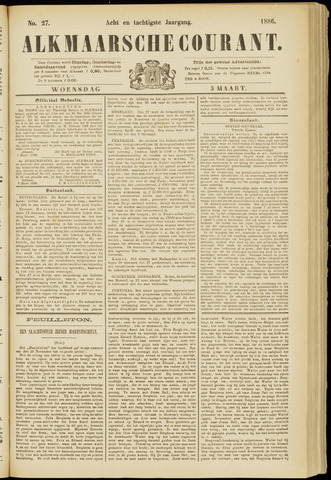 Alkmaarsche Courant 1886-03-03