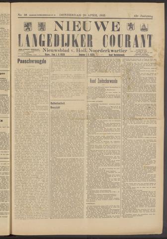 Nieuwe Langedijker Courant 1933-04-20