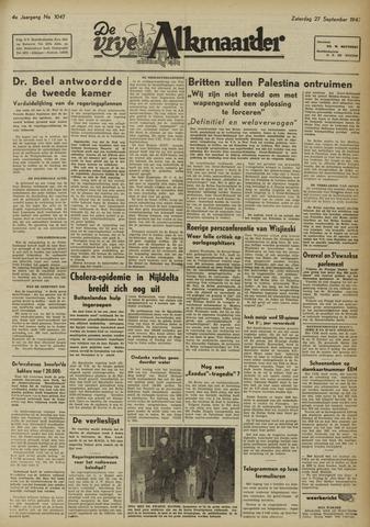De Vrije Alkmaarder 1947-09-27