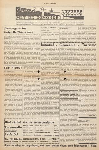 Contact met de Egmonden 1965-05-20