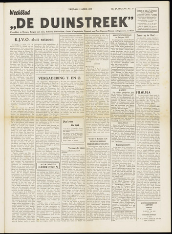 De Duinstreek 1955-04-15