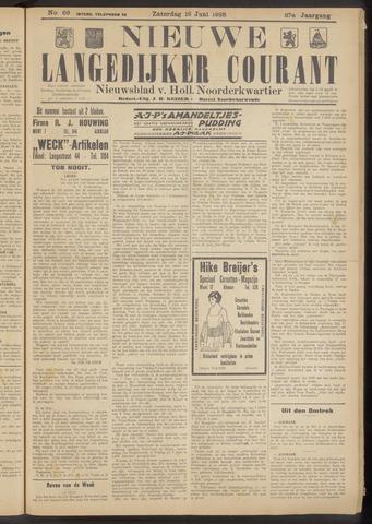 Nieuwe Langedijker Courant 1928-06-16