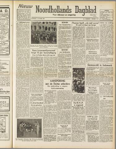 Nieuw Noordhollandsch Dagblad : voor Alkmaar en omgeving 1947-10-18