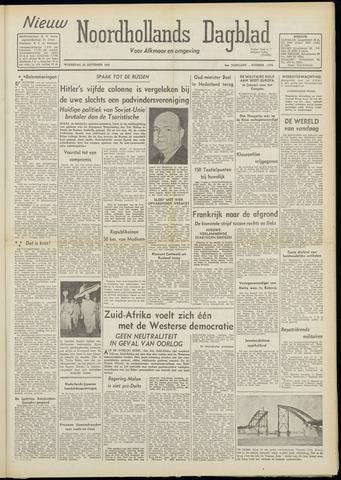 Nieuw Noordhollandsch Dagblad : voor Alkmaar en omgeving 1948-09-29