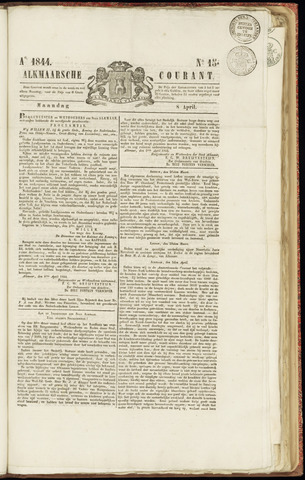Alkmaarsche Courant 1844-04-08