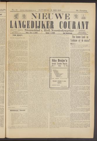 Nieuwe Langedijker Courant 1930-05-10