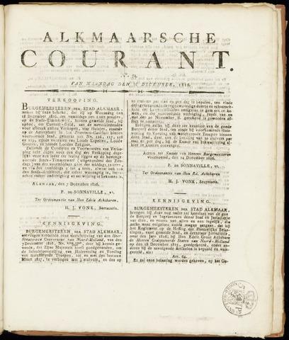 Alkmaarsche Courant 1816-12-16