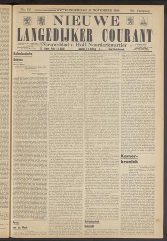Nieuwe Langedijker Courant 1930-11-13