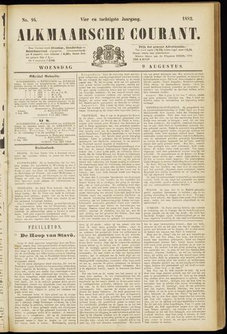 Alkmaarsche Courant 1882-08-09