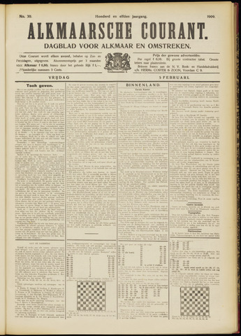 Alkmaarsche Courant 1909-02-05
