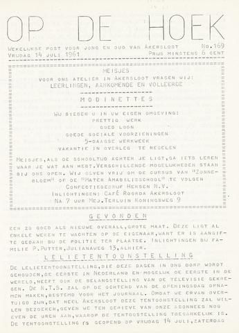 Op De Hoek, weekblad voor Akersloot 1961-07-14