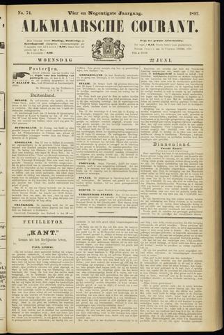 Alkmaarsche Courant 1892-06-22