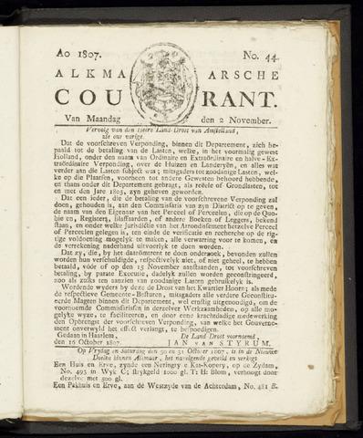 Alkmaarsche Courant 1807-11-02