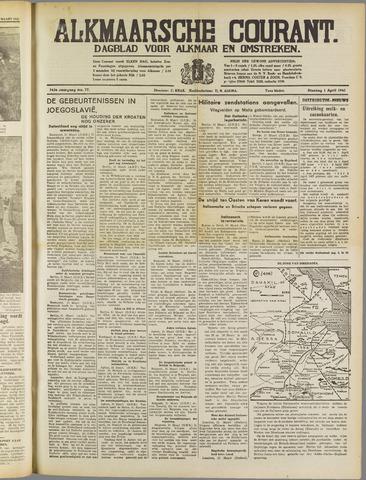 Alkmaarsche Courant 1941-04-01