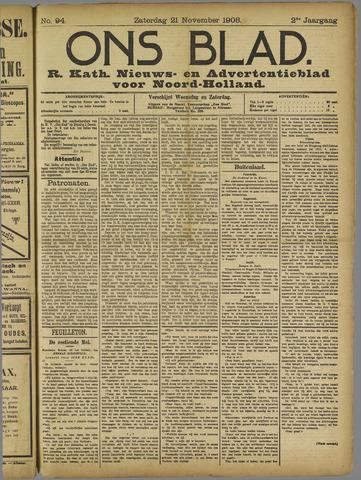 Ons Blad : katholiek nieuwsblad voor N-H 1908-11-21