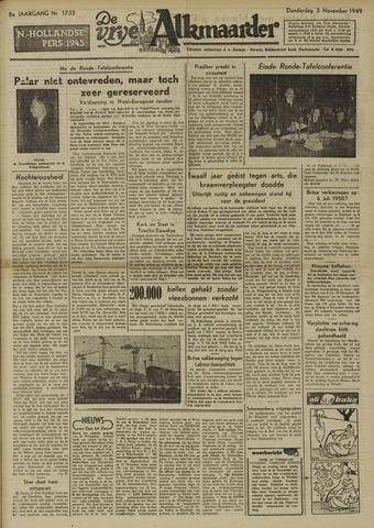 De Vrije Alkmaarder 1949-11-03