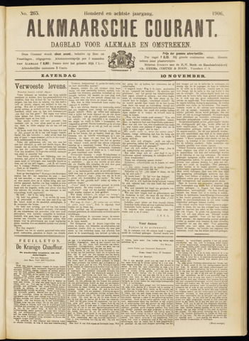 Alkmaarsche Courant 1906-11-10