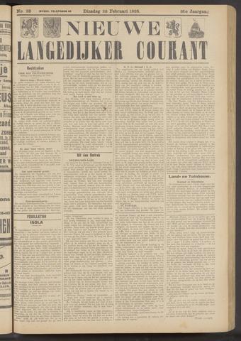 Nieuwe Langedijker Courant 1926-02-23
