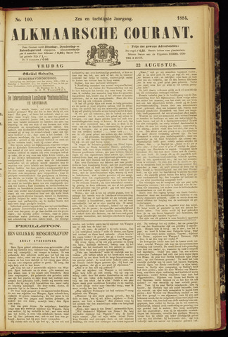 Alkmaarsche Courant 1884-08-22