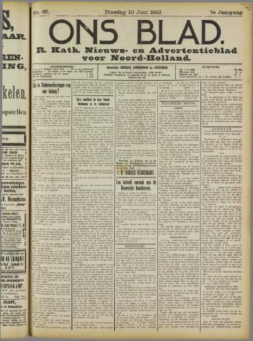 Ons Blad : katholiek nieuwsblad voor N-H 1913-06-10
