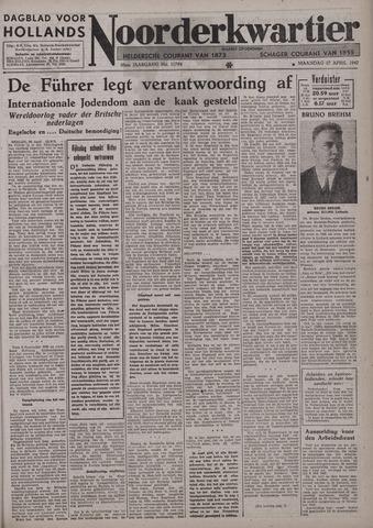 Dagblad voor Hollands Noorderkwartier 1942-04-27