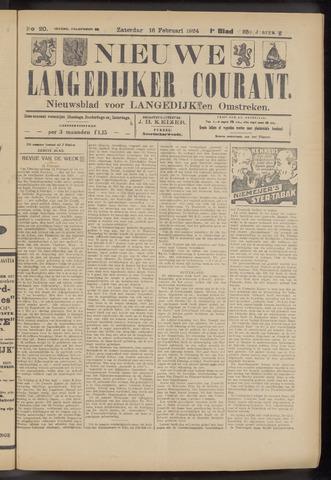 Nieuwe Langedijker Courant 1924-02-16